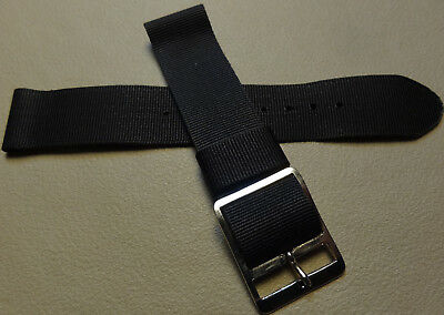 Nuevo Hombre Timex Clásico Camper 19mm T18581 Nylon Negro Reloj Banda Militar...