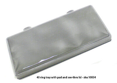 Sella 40-ring Tray With Foam Pad And See-thru Lid 10004
