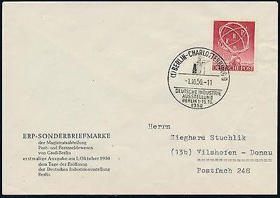 Berlin ERP 1950 amtlicher Ersttagsbrief FDC Michel 71 (S12032)