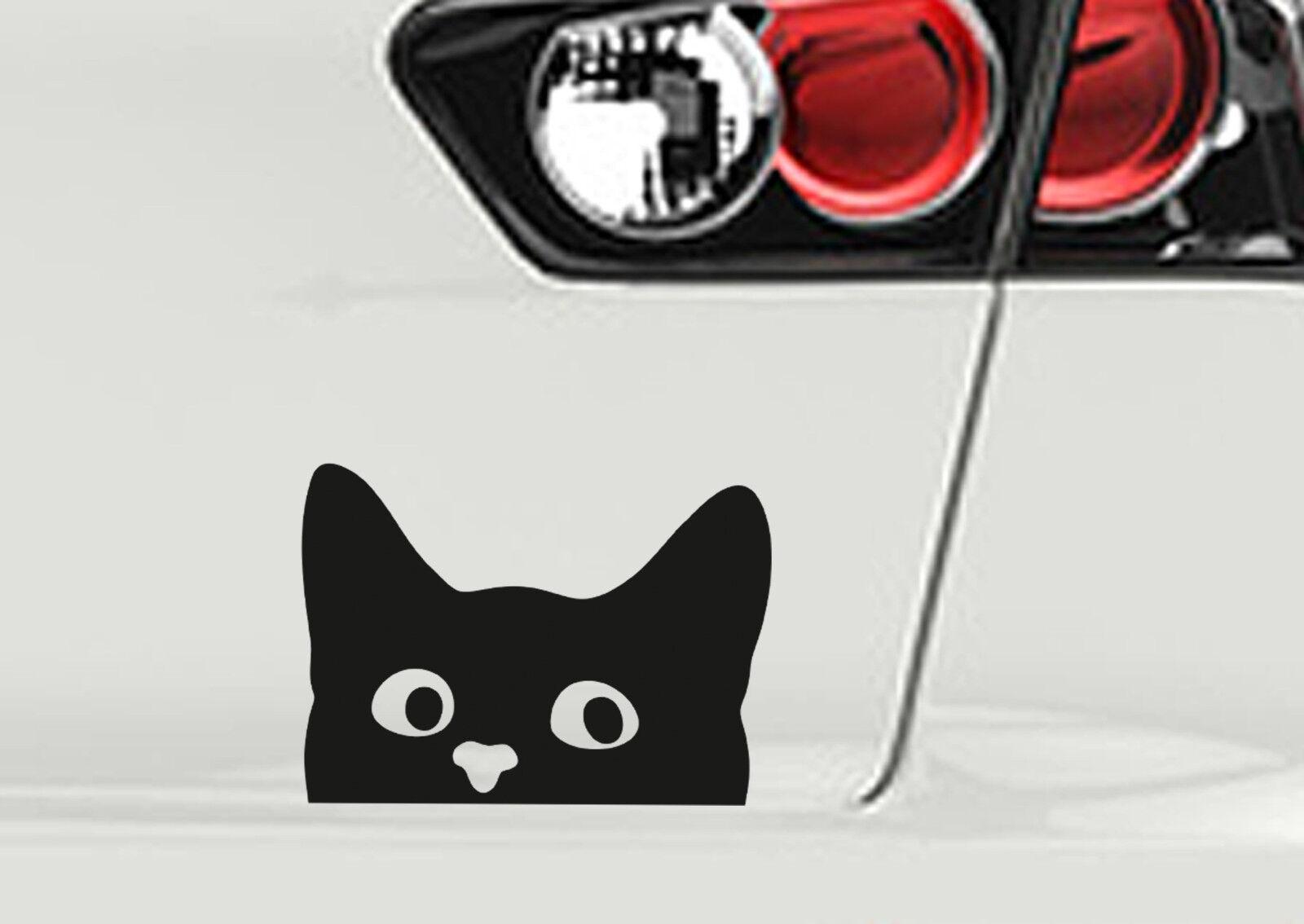 Katze cat Aufkleber Autoaufkleber Sticker Autotattoo Farbauswahl Folie ORACAL651