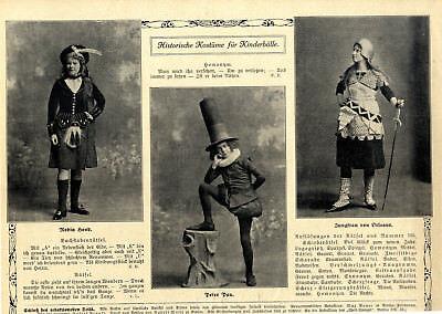 Historische Kostüme für Kinderbälle Robin Hood + Peter - Kostüme Bälle