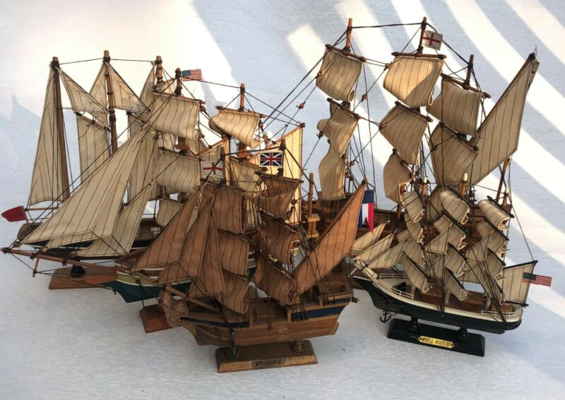 5 Wooden Boats - Spanish Galleon 1607 Ship and Myrtle