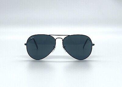 Ray-Ban RB3025 002/62 Aviator Black Frame Black Lenses 62mm Lens Sunglasses