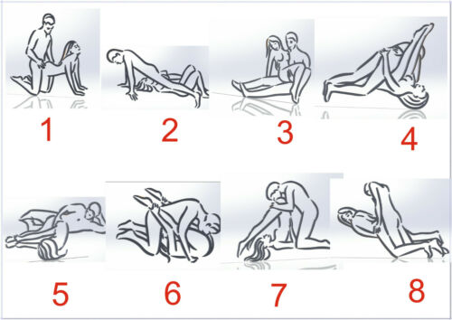 Kama Sutra 55 DXF File / sexual positions CNC Industrial Laser Cut Plasma