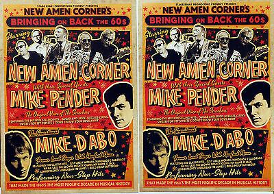 NEW AMEN CORNER 2017 TOUR FLYERS X 3 - MIKE PENDER MIKE D'ABO