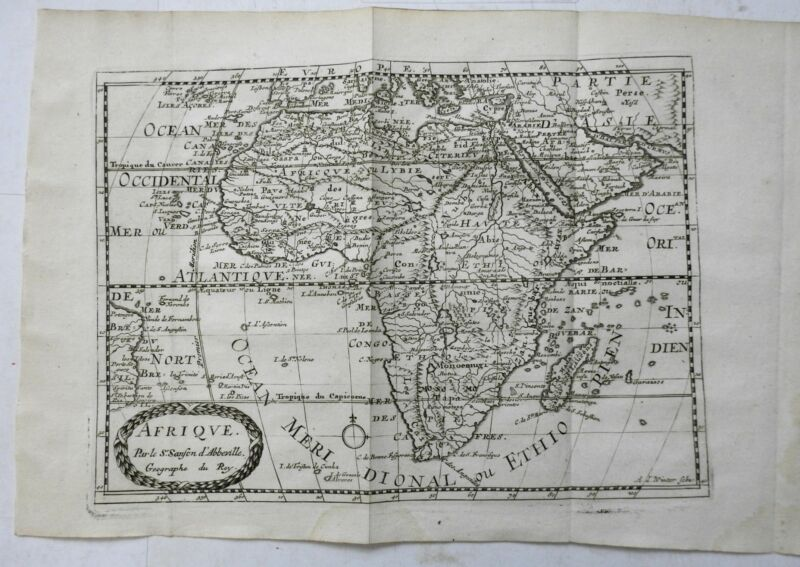 African Continent Apocryphal Geography Morocco Egypt Guinea Zanzibar 168 Sanson