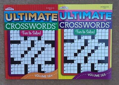 Two LARGE Print & EASY Kappa Ultimate Crossword Puzzle Books #164 & #165*Lot
