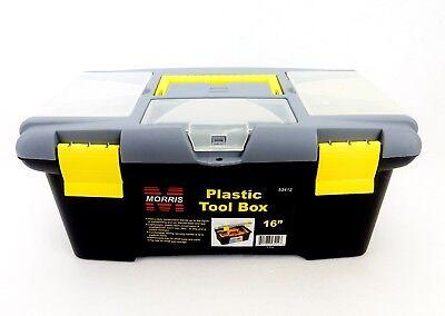 "16"" Tool Box, Plastic, Removable Tray, Parts Bins, Bit Storage, Morris #53412"