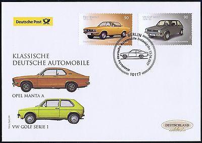 BRD 2017: Opel Manta und VW Golf! Post-FDC Nr. 3297+3298! Berliner Stempel! 1706
