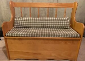 Beautiful Wooden Bench with Storage