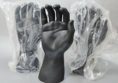 Lot Of 3 Rpm Industries Male Mannequin Hand Watch Ring Glove Display Blk Usa 10