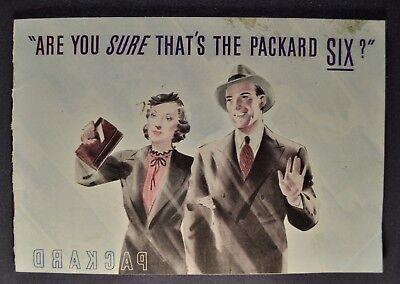 1938 Packard Six 6 Catalog Sales Brochure Nice Original 38
