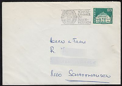 Switzerland: Cover with 20c stamp from 1964 Architectural series