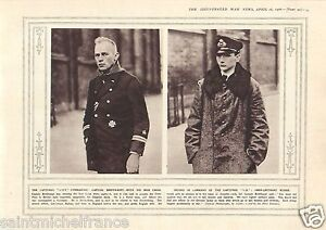 """Officer Prisoner Captain Breithaupt Zeppelin Germany Gun WWI 14 18 PLANCHE 1916 - France - PORT GRATUIT A PARTIR DE 4 OBJETS BUY 4 ITEMS AND WORLDWIDE SHIPPING IS FREE EXCEPT USA, CANADA, AMERICA ONLY TRACKING MAIL PLANCHE 1916 RECTO-VERSO ETAT VOIR PHOTO FORMAT 28 CM X 20 CM SIZE : 11.02"""" X 7.87 inch G.108.90 - France"""