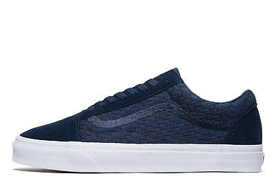 Genuine Vans Old Skool Woven Men's Trainers Shoes Blue RRP £65 NEW