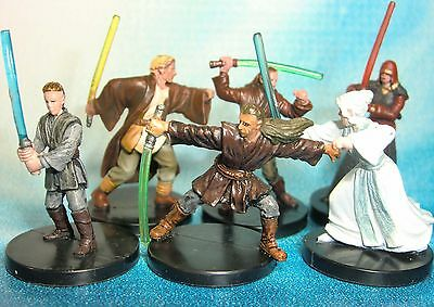 Star Wars Miniatures Lot  Jedi Knight Jedi Sentinel Jedi Consular !!  s97