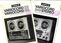 Uher - Varicord 23 - 63 - 243 Stereo Catalogos Originales -  - ebay.es