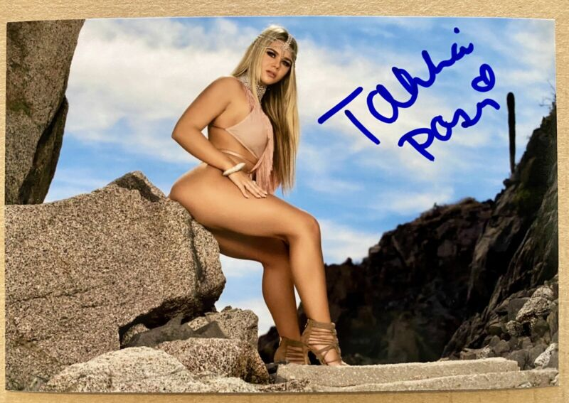 Tahlia Paris Autograph Signed 4x6 Photo Playboy Cybergirl Of Year - Exact Proof