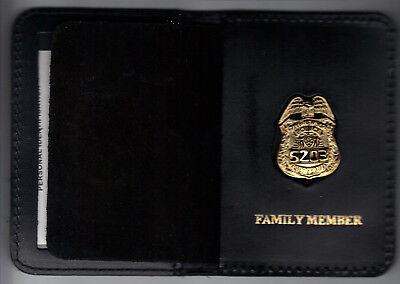 NY/NJ Police-Style-Sergeant Family Member Random Number Mini Badge Book Wallet