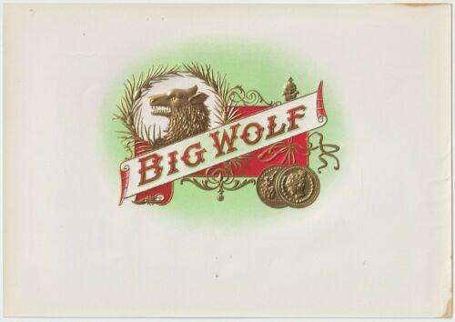 Big Wolf - Cigar Box Label