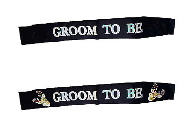 Bachelor Party Accessories (Groom To Be Sash Party Stag Do Stag Night Bachelor Party Accessories Black)