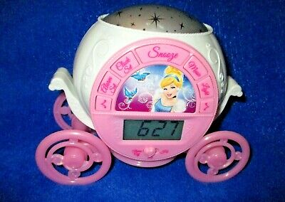 Cinderella Coach Clock With Alarm - Ceiling Stars - Music ()
