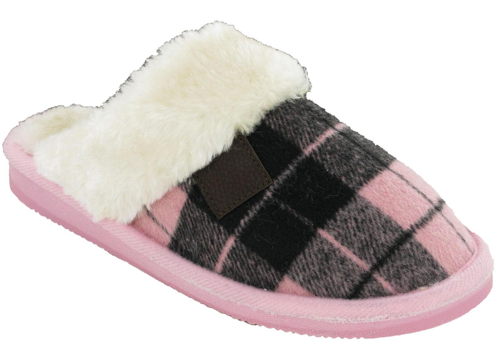 Womens Mule Slippers Warm Cushion Walk