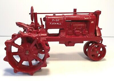 Vintage Red Farmall F-30 Tractor Very Rare Never Seen One Like It Cast Iron