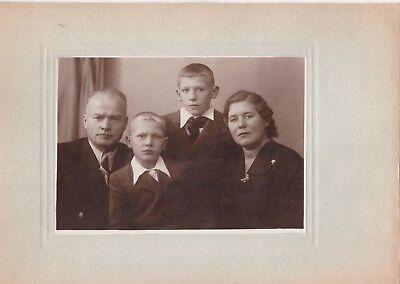 1950s BIG Beautiful family man woman cute boys fashion old Soviet Russian photo