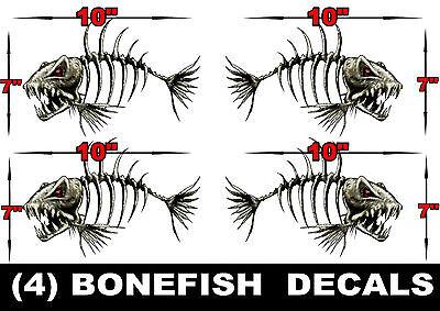 LARGE BONEFISH BONE FISH FOR SKEETER RANGER LUND FISHING BASS - Ranger bass boat decals