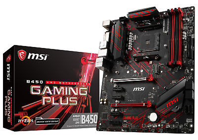 MSI B450 GAMING PLUS Socket AM4 AMD B450 SATAIII 6Gb/s USB3.1 ATX Motherboard