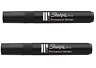 2 X JUMBO PERMANENT   BLACK MARKER PENS  MEGA LARGE BIG 5MM TIP ***