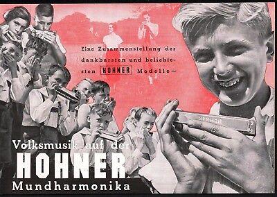 Hohner Mundharmonika-Katalog 1938 Original ca. 70 Modelle 24 Seiten Sehr selten!