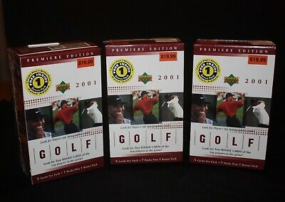 Three 2001 Upper Deck Golf  Premiere Edition Factory Sealed Boxes(TIGER WOODS)