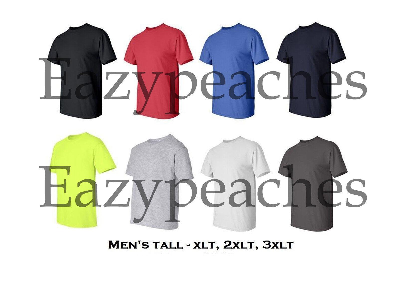 Gildan 2000T Ultra Cotton T-Shirt Tall Sizes 100/% cotton XLT 2XLT 3XLT