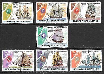 1976 Grenada & Grenadines full set 7 stamps 200th anniv. American Revolution CTO