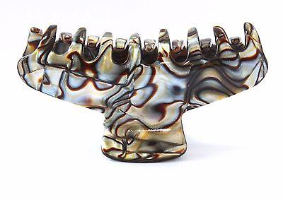 French Onyx Handmade Hair Claw Large Celluloid Tortoise Alligator Jaw Clip M3 (Tortoise Alligator Hair Clips)