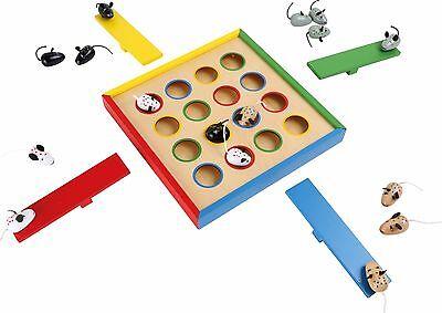 Hüpfmäuse Spiel aus Holz für Kinder Geschicklichkeit Hüpfspiel Mäuse Kinderspiel