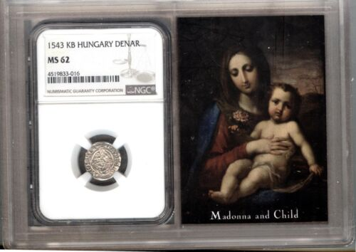 1543 KB  HUNGARY Denar  SILVER COIN - NGC MS62 - CHOICE UNC
