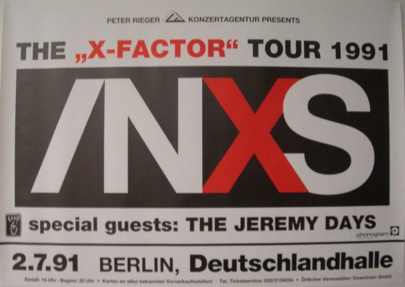 INXS CONCERT TOUR POSTER 1991 X FACTOR