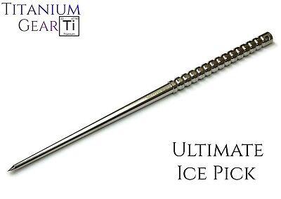 "Titanium Ice Pick! Ultimate Bartending Tool + Ti Self Defense Spike - 9"" Length!"