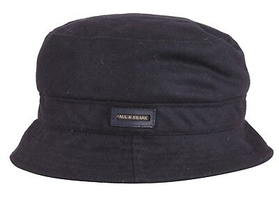 PAUL & SHARK YACHTING Fischer Mütze Hat Hut Cap Wolle & Nylon Navy XL 57 - 59 cm