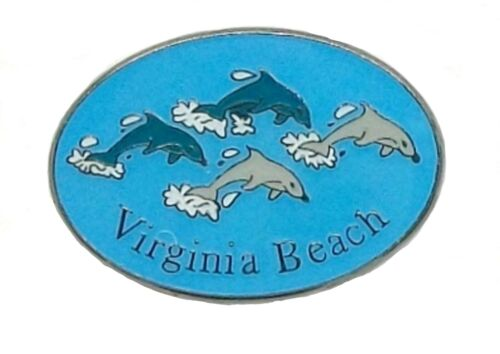 Virginia Beach with Dolphins Hat Tac or Lapel Pin