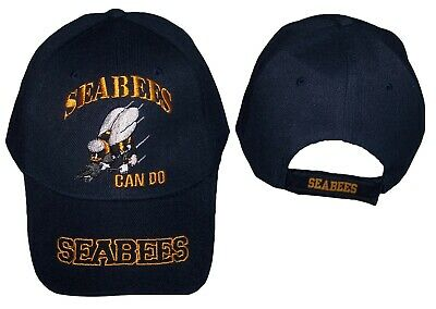 wholesale dealer 14cd9 2f247 Sea Bees Can Do Licensed Military Baseball Caps Hats Navy (7507N12)