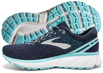 Brooks Ghost 11 Women's Running Shoe Navy/Grey/Blue multiple sizes New In Box Brooks Womens Running Shoes