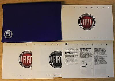 FIAT DOBLO HANDBOOK OWNERS MANUAL WALLET 2010-2016 PACK PRINTED 2014 PACK 12225