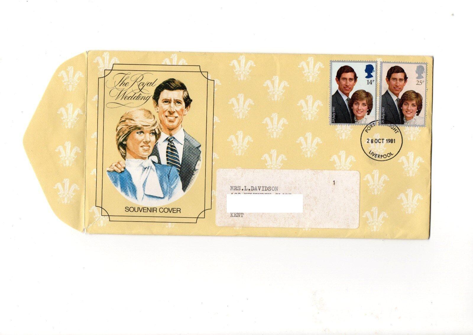 GB - 1981 Royal Wedding Souvenir Cover Port Sunlight dated 28th Oct 1981