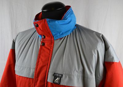 Vintage Gore Tex K Way Men's Jacket Medium M 46 Retro 90's 1990's Red Grey Blue
