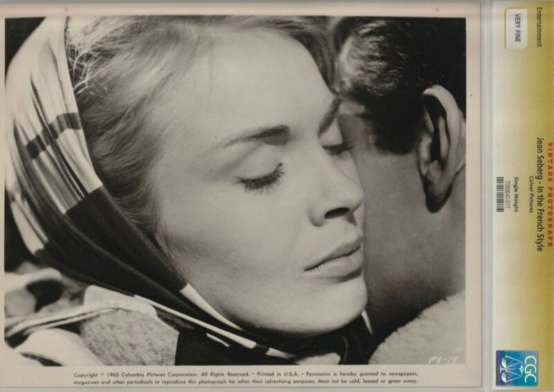 Jean Seberg In The French Style Cgc Very Fine 1963 Culver Pictures Vintage Photo Ebay