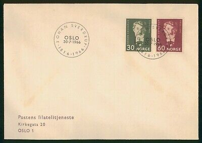 Mayfairstamps Norway 1966 Johan Sverdrup Combo First Day Cover wwo1353